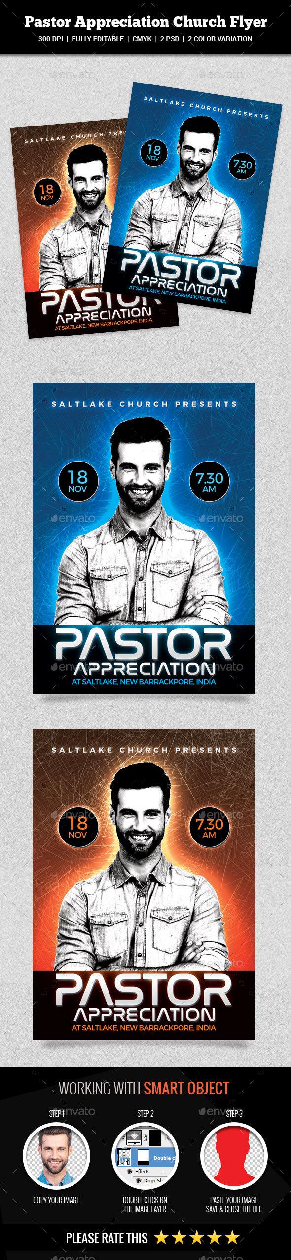 GraphicRiver Pastor Appreciation Church Flyer 20751836