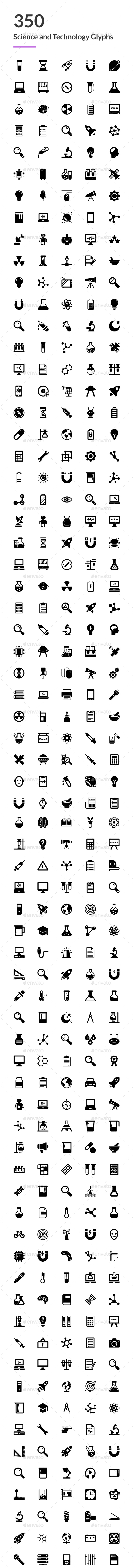 GraphicRiver 350 Science and Technology Icons 20751883