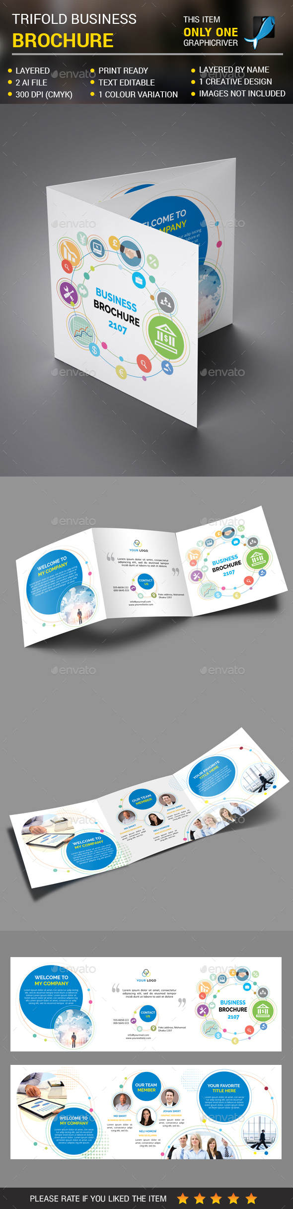 Square Corporate Trifold vol 3 - Corporate Brochures