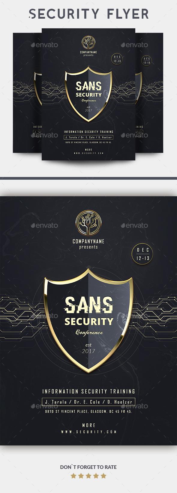 GraphicRiver SANS Security Flyer 20751982