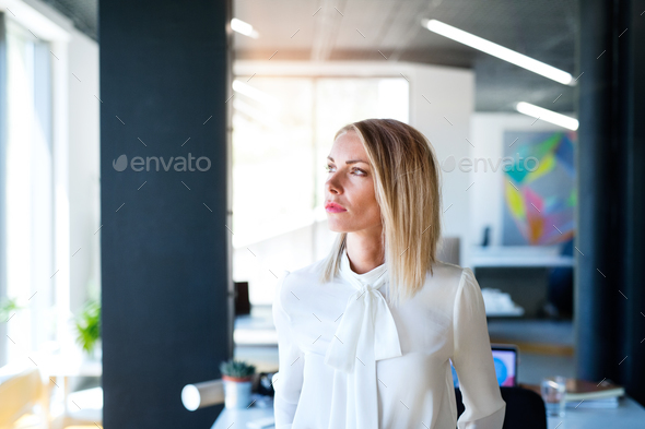 Young businesswoman in her office. - Stock Photo - Images