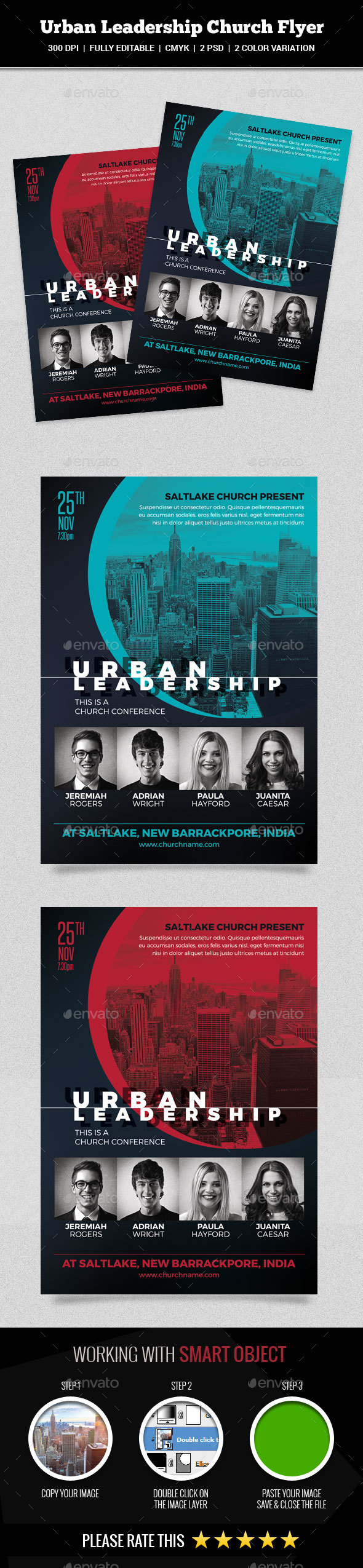 GraphicRiver Urban Leadership Church Flyer 20752225