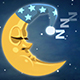 Sleeping Moon Snores In The Starry Sky