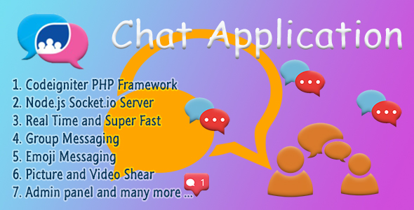 Chat Application - Codeigniter ( Socket.io) Node.js - CodeCanyon Item for Sale