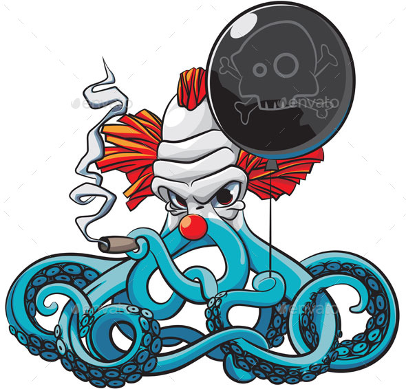 Octopus the Bad Clown - Halloween Seasons/Holidays