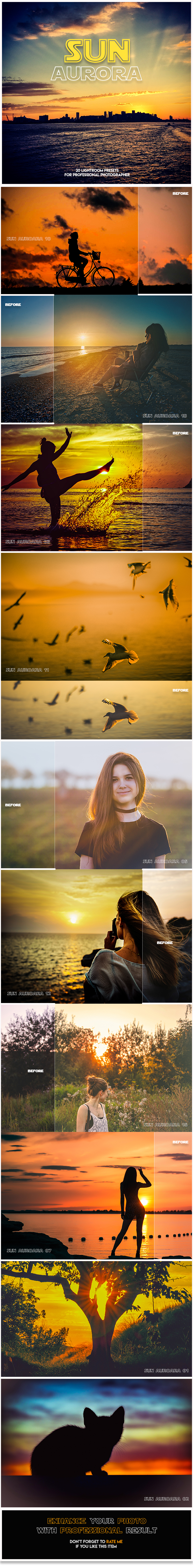 GraphicRiver 20 Sun Aurora Lightroom presets 20752568