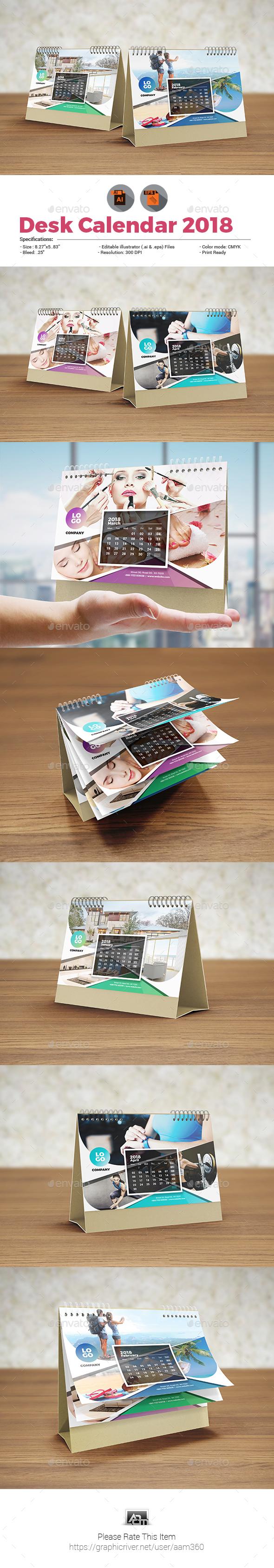 GraphicRiver Multipurpose Desk Calendar 20752579