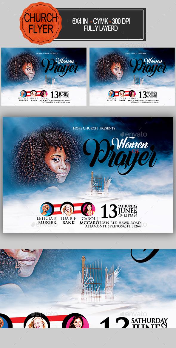 Women of Prayer Church Flyer - Church Flyers