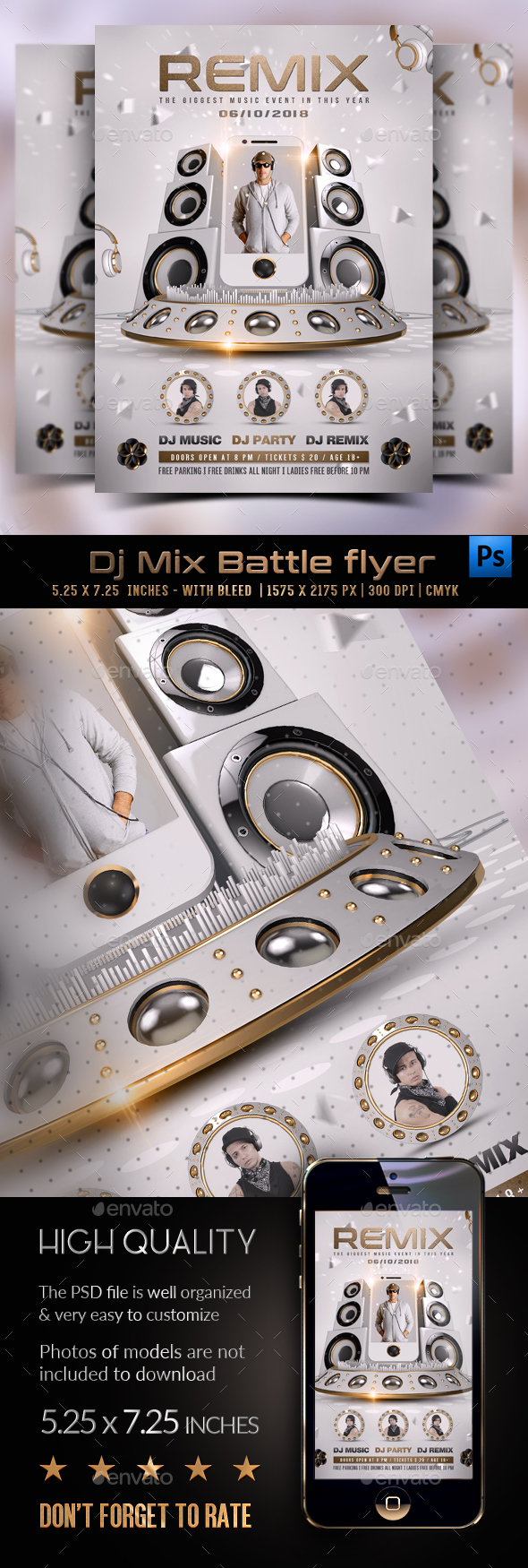 GraphicRiver DJ Mix Battle Flyer Template 20752768
