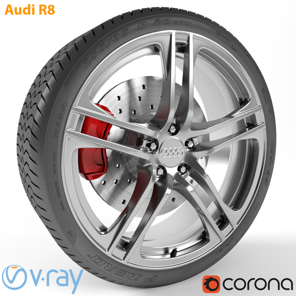 Audi R8 Wheel - 3DOcean Item for Sale