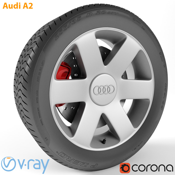 Audi A2 Wheel - 3DOcean Item for Sale