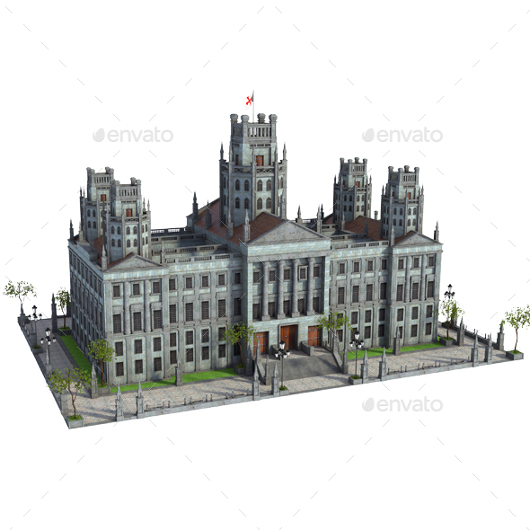 Classic Original Palace - Architecture 3D Renders