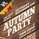 Autumn Party Poster / Flyer V02 - GraphicRiver Item for Sale