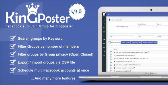 CodeCanyon Facebook Auto join groups Module for Kingposter 20753473