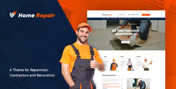 Image of Home Repair - Building & Maintenance Service WordPress Theme