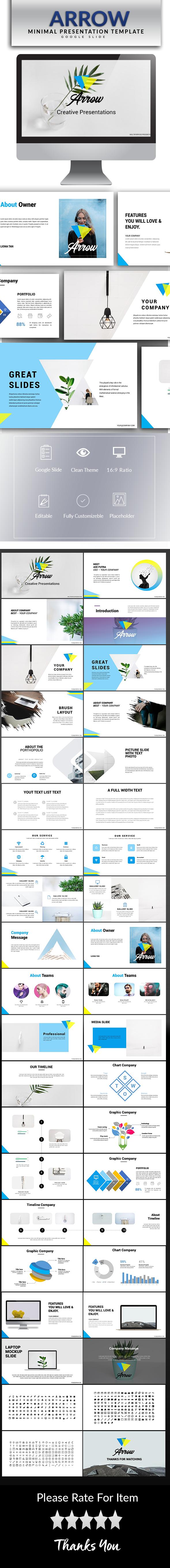 Arrow Google Slide Template - Google Slides Presentation Templates