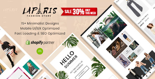 Image of LaParis - Simple Creative Responsive Shopify Theme | Sections Drag & Drop