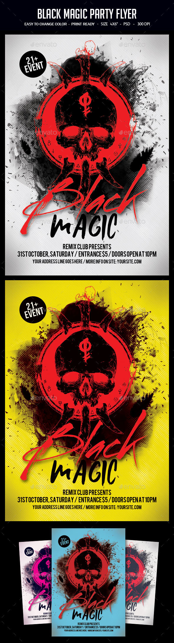 Black Magic Party Flyer - Clubs & Parties Events