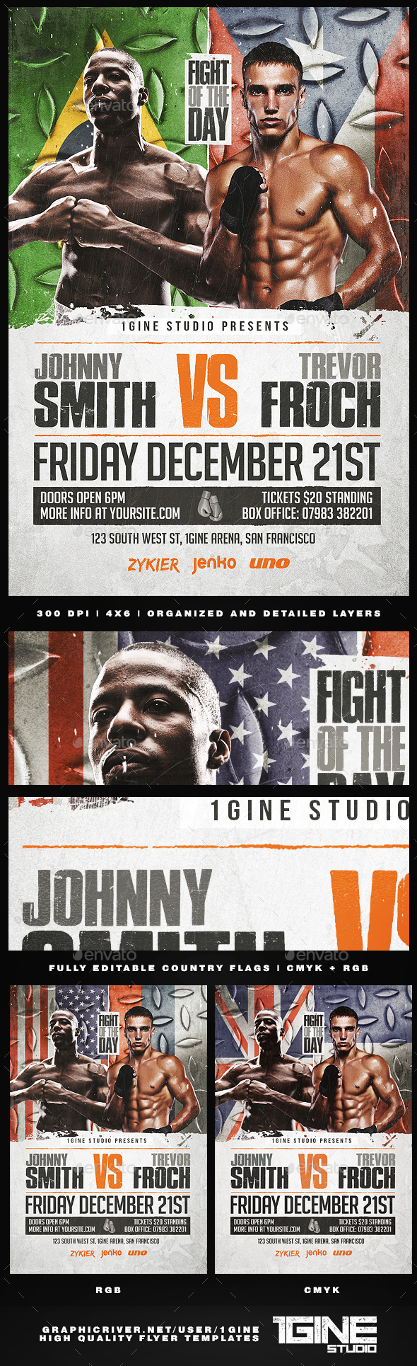 Boxing Flyer Template 2 - Sports Events