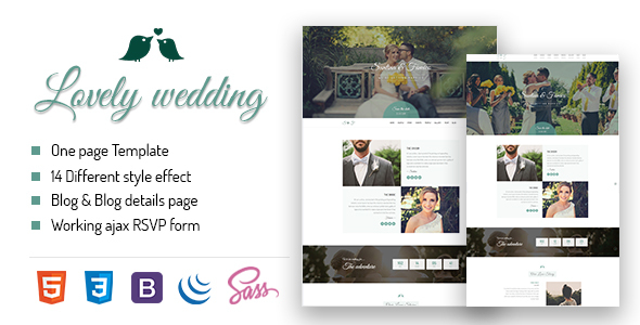 Lovely Wedding - Responsive Wedding Template