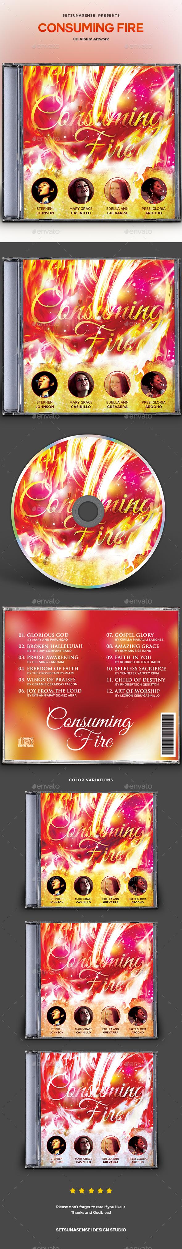 GraphicRiver Consuming Fire CD Album Artwork 20754109
