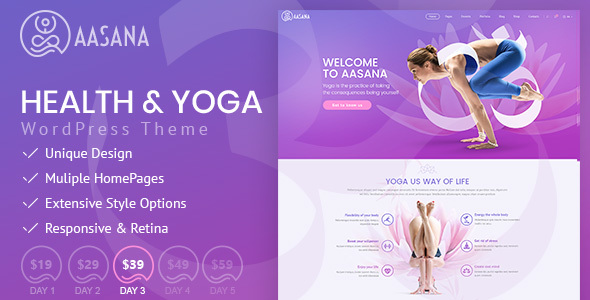 Download Aasana - Health and Yoga WordPress Theme