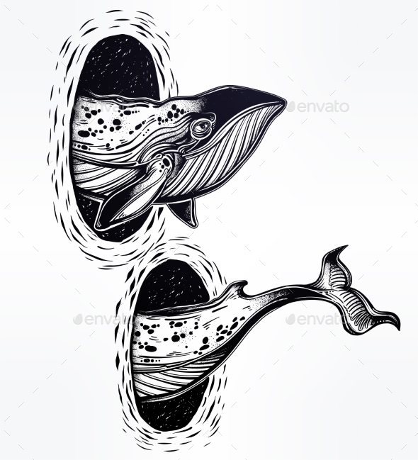 GraphicRiver Surreal Whale and the Magic Teleport Wormhole 20754139