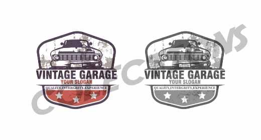 vintage garage logo design