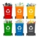 Trash in Garbage Cans with Sorted Garbage - GraphicRiver Item for Sale