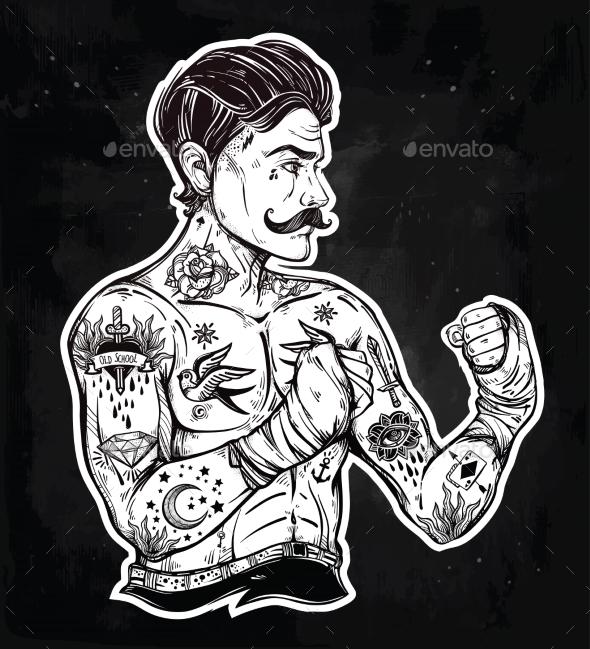 GraphicRiver Flash Tattoo Boxer Fighter 20754290