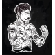 Flash Tattoo Boxer Fighter