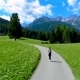 Woman Jogging Outdoors. Italy Dolomites Alps - VideoHive Item for Sale