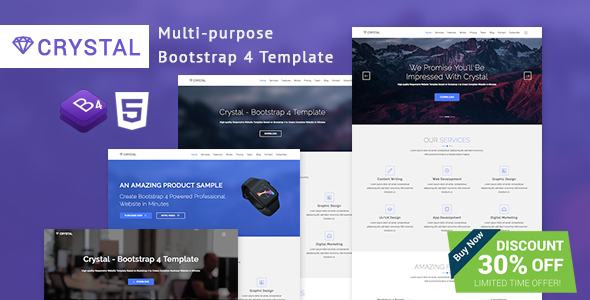 Crystal - Bootstrap 4 Template
