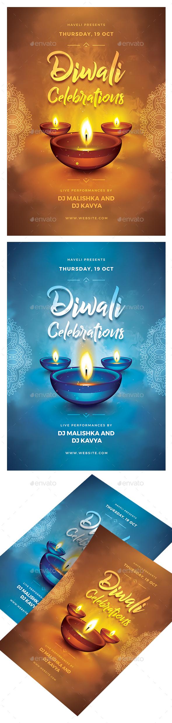 GraphicRiver Diwali Celebrations Flyer 20754753