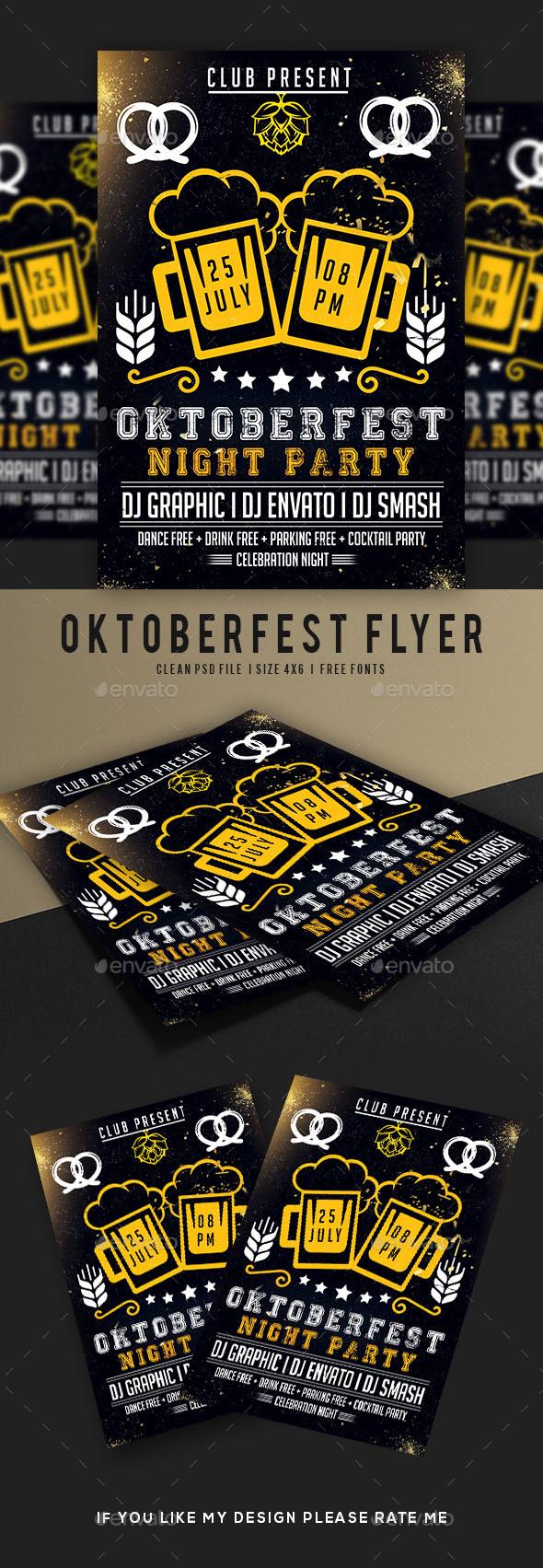 Oktoberfest Flyer - Events Flyers