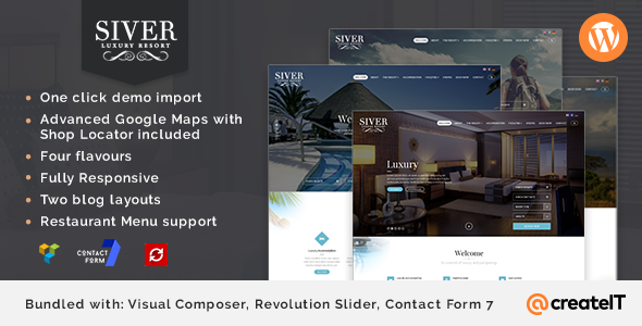 Siver - Luxury Resort WordPress Theme - Travel Retail