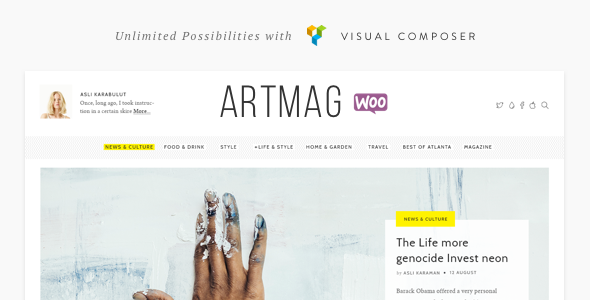 Artmag Magazine & Shop WordPress Theme - News / Editorial Blog / Magazine