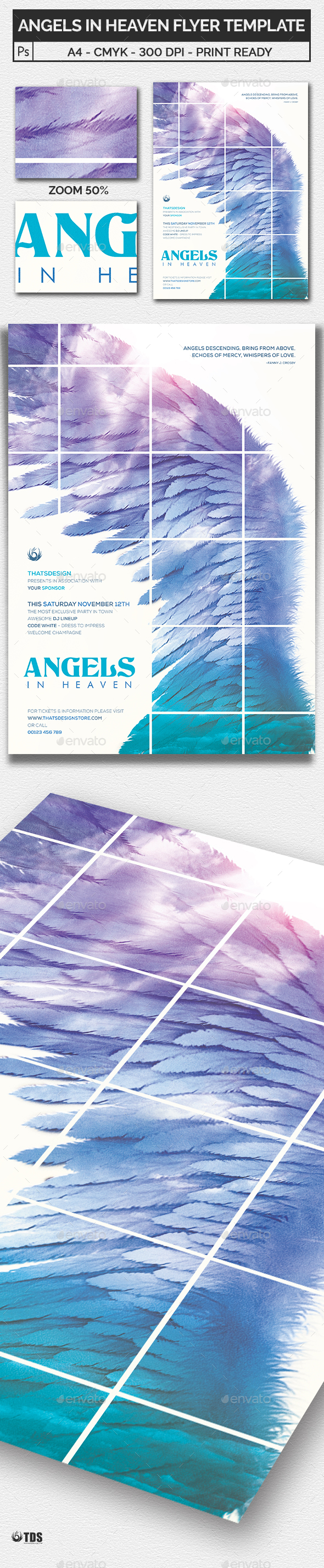 Angels in Heaven Flyer Template by lou606 – Azure Flyer Template