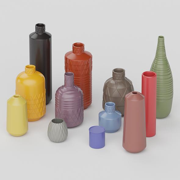 3DOcean Ceramic Vase Collection 20755209