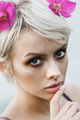 Woman with short blond hair - PhotoDune Item for Sale