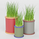 Grass Pot Collection - 3DOcean Item for Sale