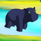 Little Blue Hippo Emerged from the Water - VideoHive Item for Sale