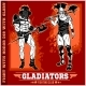 Set of Gladiators on Red Background