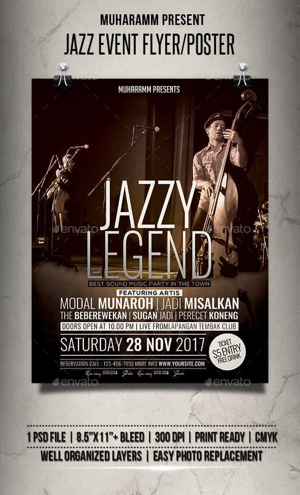 Jazz Event Flyer / Poster - Events Flyers