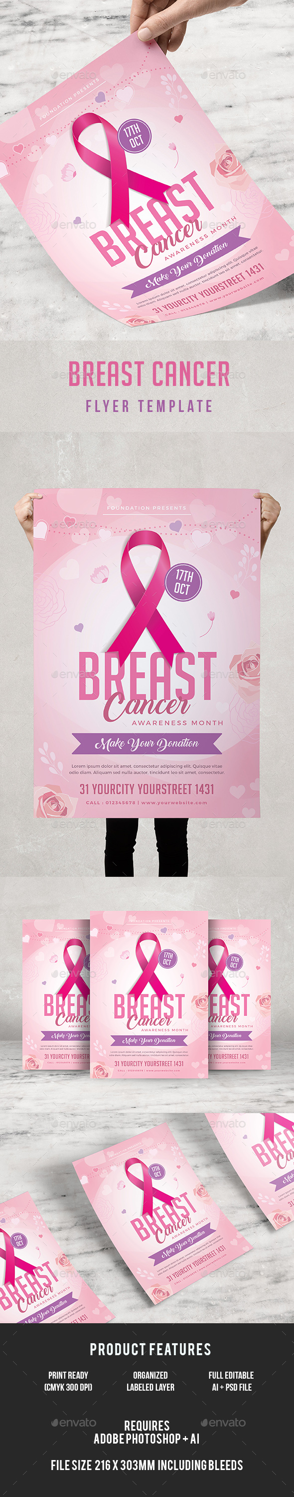 Breast Cancer Awareness Flyer - Events Flyers