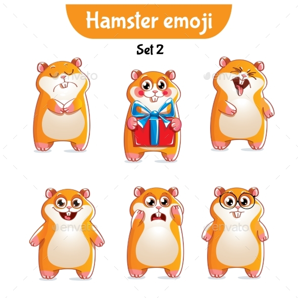 GraphicRiver Hamster Characters Set 2 20755416