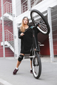 Girl with street bicycle - PhotoDune Item for Sale