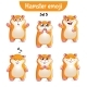 Set of Hamster Characters Set 5
