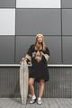 Girl with dog on longboard - PhotoDune Item for Sale