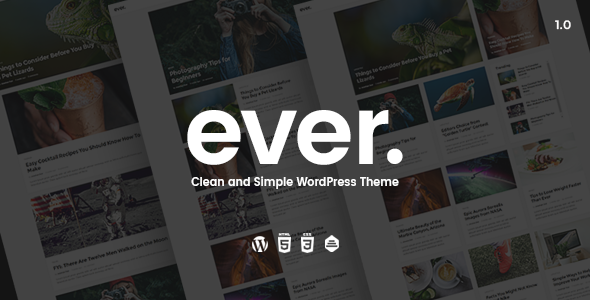 Ever - Clean and Simple WordPress Theme - Personal Blog / Magazine